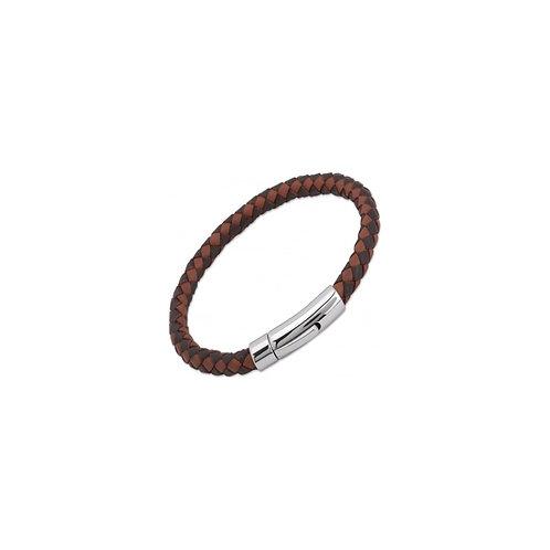 Unique & Co Mens Leather Bracelet, A40MB.