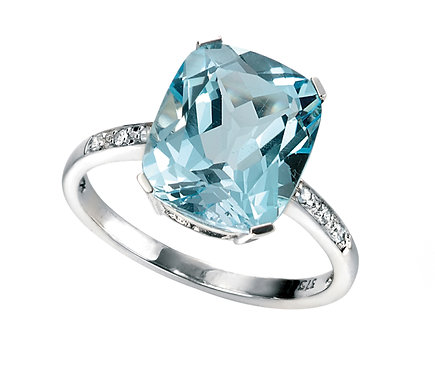 Topaz and Diamond Ring, GR224T.