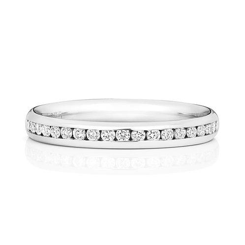 Diamond Platinum Eternity Ring, 0.24cts