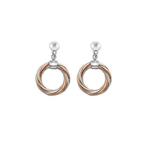 Hot Diamonds Silver Breeze Earrings, DE474.