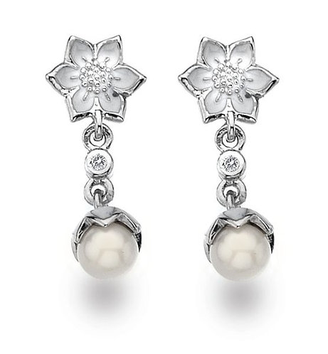 White Ice Sterling Silver Diamond Earrings DE328