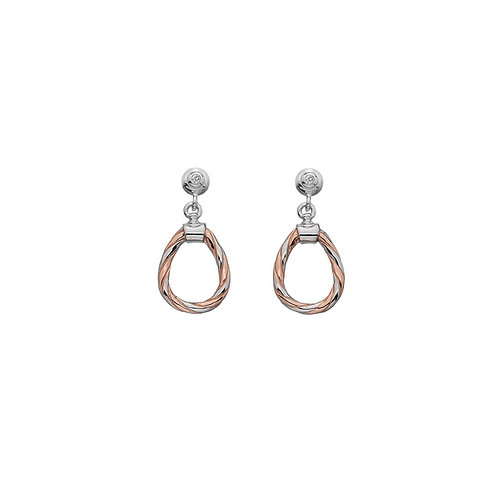 Hot Diamonds Silver Willow Drop Earrings, DE545.