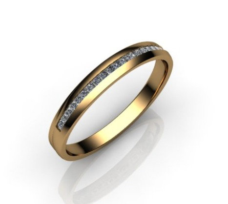 Diamond Eternity Ring 0.20cts, 18ct Yellow Gold.