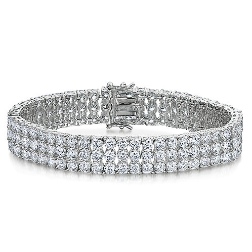 Jools Sterling Silver CZ Bracelet kpb310