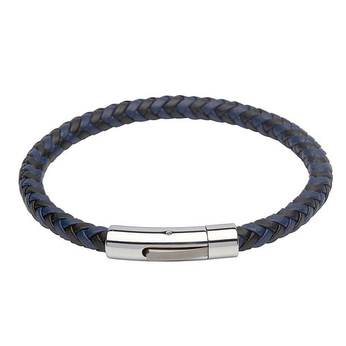 Unique & Co Mens Leather Bracelet, B284BL.