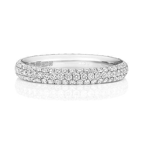 Diamond Full Eternity Ring 0.95cts, 18ct White Gold.