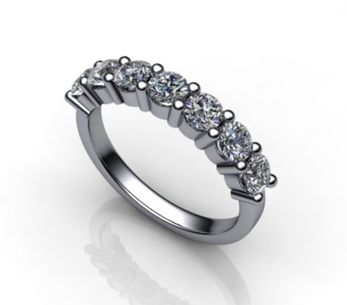 Diamond Eternity Ring 1.09cts, 18ct White Gold