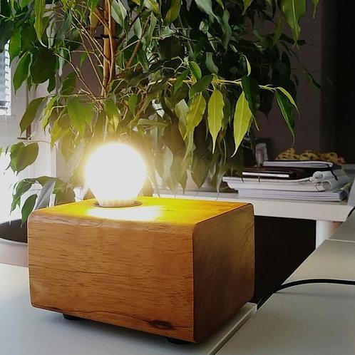 VINTAGE coppia lampade da comodino a led in legno massello