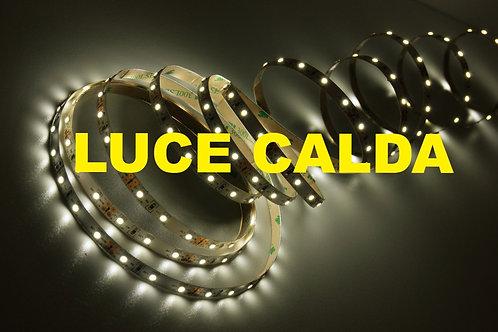 5mt striscia a led luce calda 60 led/mt 12Vdc 4,8W/mt