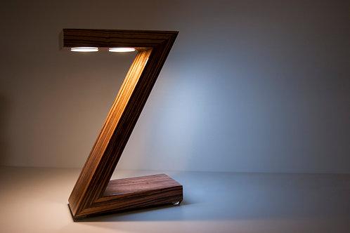 ZETA - lampada da tavolo a led in legno
