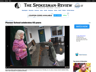 Pioneer School Featured in Spokesman-Review