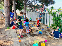 All Grades Playing in the Sandbox
