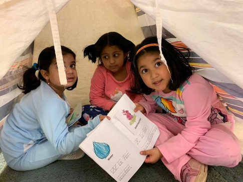 Read-a-thon in a tent