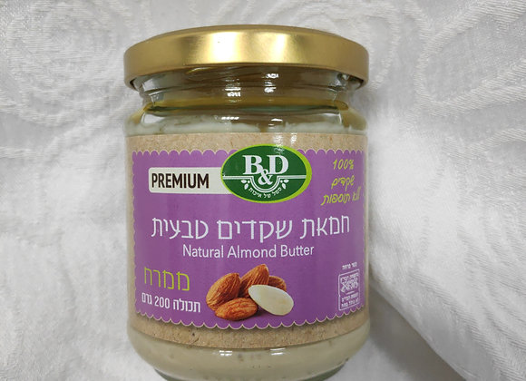 חמאת שקדים טבעית 200 גרם