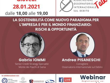 28/01/2021   Webinar: La sostenibilità come nuovo paradigma per impresa e finanza - Talk