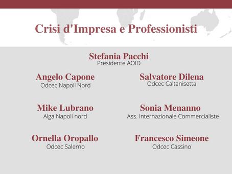 """16/03/21 Webinar di presentazione del corso """"Diritto delle crisi d'impresa"""""""
