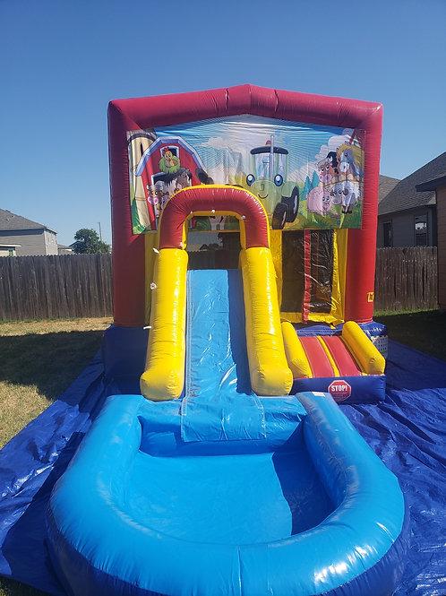Farm Friends Bounce / Water Slide Combo