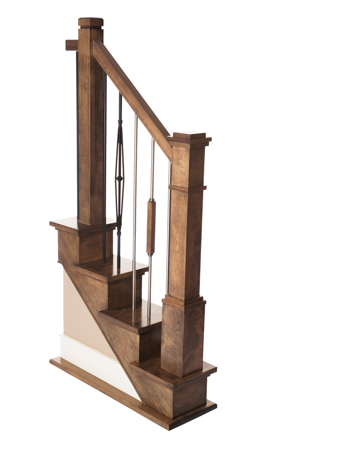 Box Newel Shaker Plain 5 1/2''