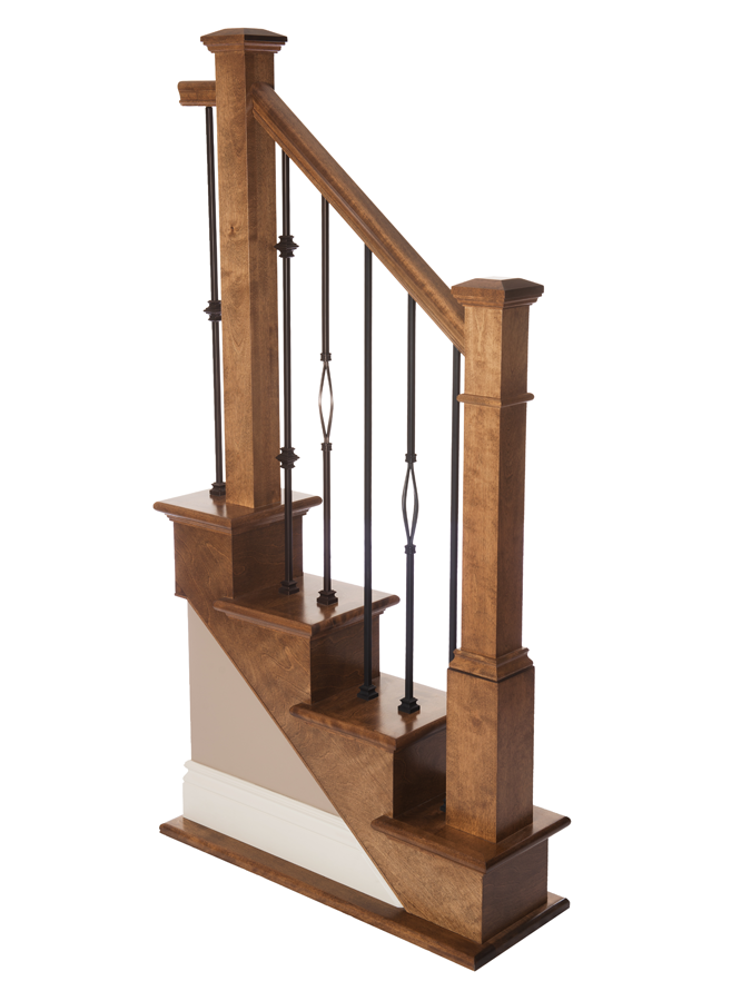 Box newel victorian plain