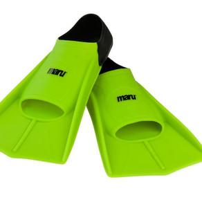 Maru kickboard, paddles and fins
