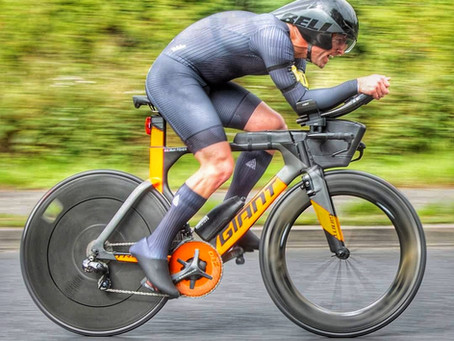 A distinctly average Time Trial cyclist
