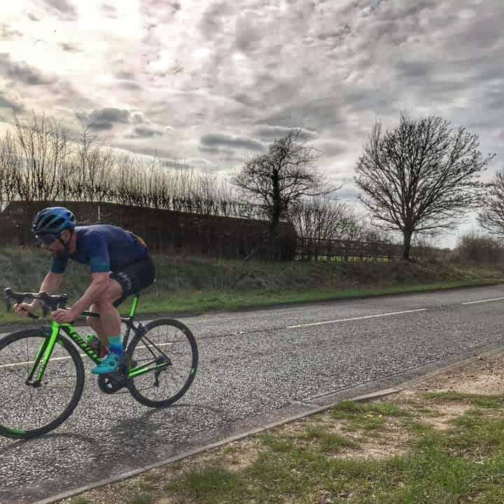 Time Trial on a Giant TCR road bike