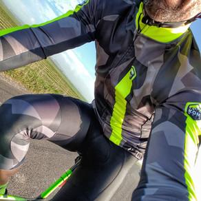 "Komraid ""Splinter Mork"" winter cycling jacket & knee warmers"