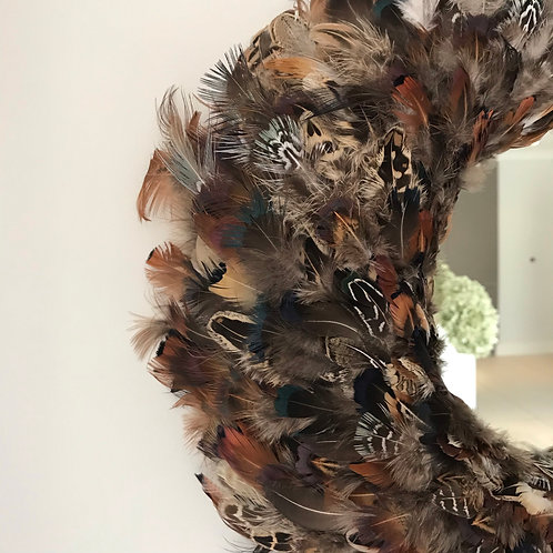Pheasant Feather Mirror