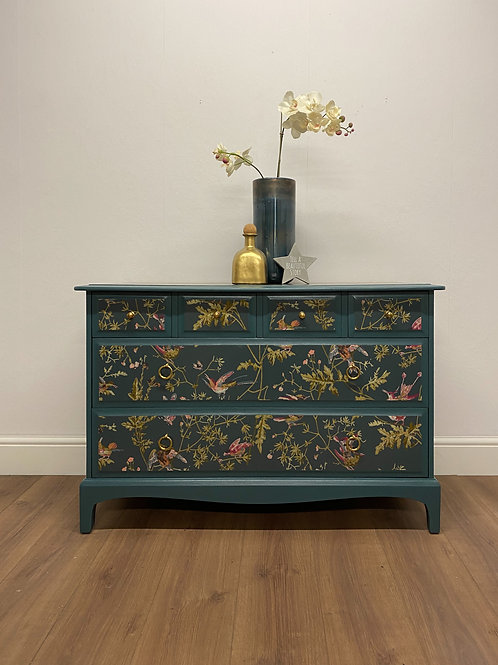 stag chest of drawers decoupage