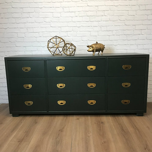 DARKEST GREEN SIDEBOARD