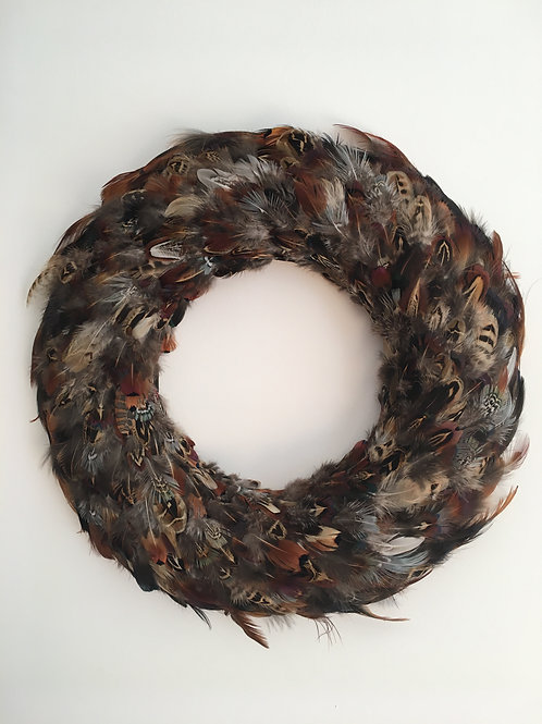 STN Feather Wreath Wall Decoration
