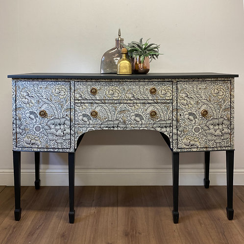 decoupaged sideboard William Morris Wandle