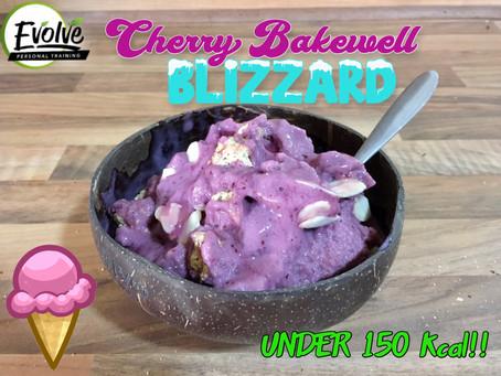 Cherry Bakewell Blizzard Ice Cream - Under 150kcal!