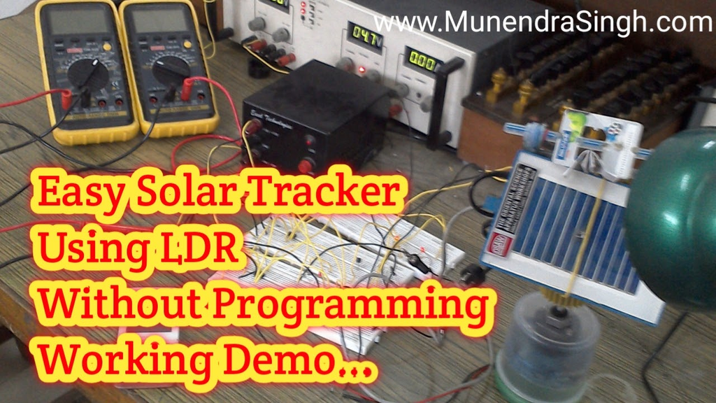 Solar Tracker circuit using LDR without programming