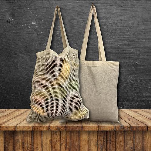 Pair of 2 Produce Fruit Net Bags (Cotton)