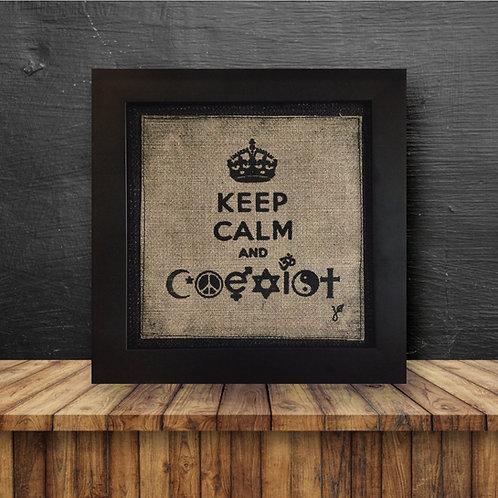 Wall Art - Keep Calm & Coexist