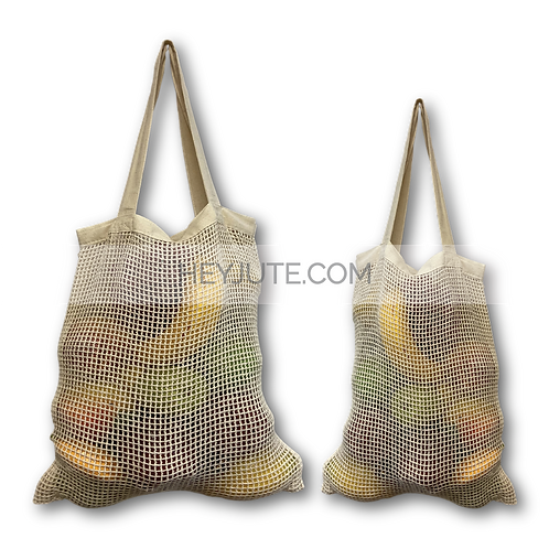 Produce Net Bags - Cotton Dual Face Back Side Branding