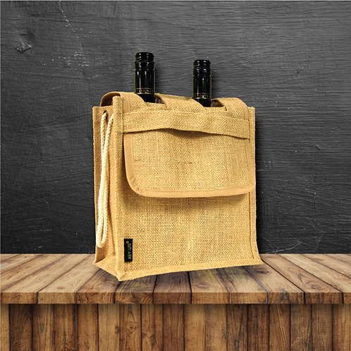 Wine Bottle Bag with Flap (Double)