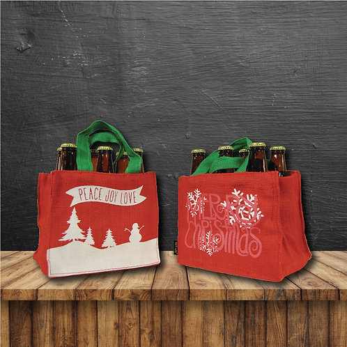 Pair of 6-Bottle Carriers - CHRISTMAS