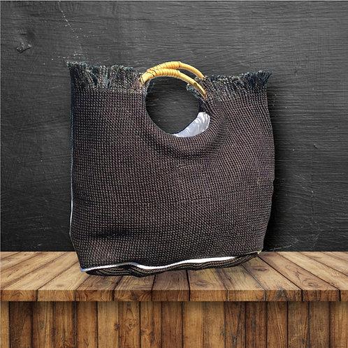 Eco Chic Handbag (Night Black Cane)