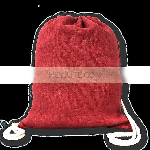 Drawstring Backpack - Soft Jute