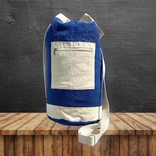 Duffle Bag Soft Jute (Blue)