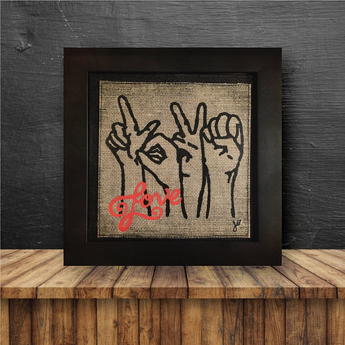 Wall Art - Love in Sign