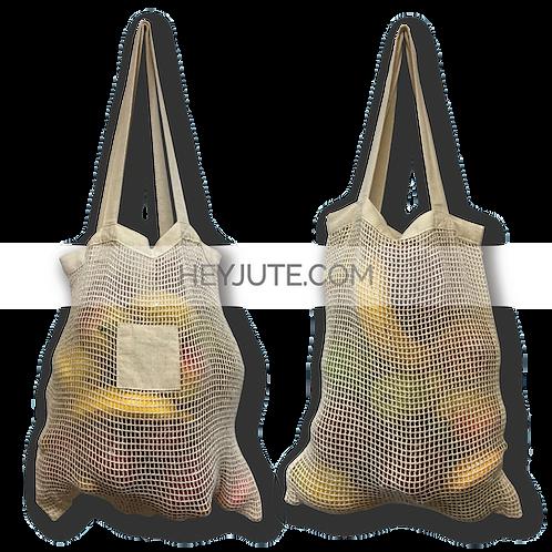 Produce Net Bags - Cotton Square Patch Branding