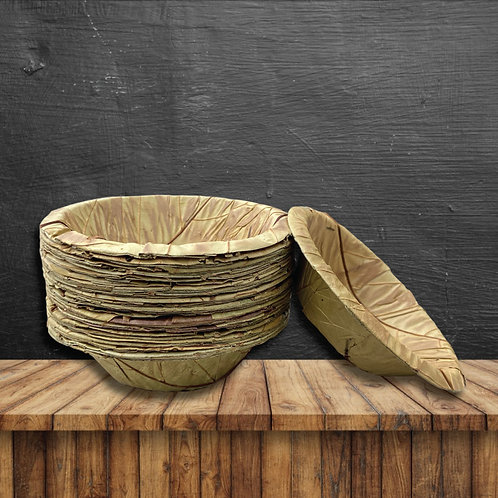 "Sal Leaf Bowls - 5.5"" Round (100 Pack)"
