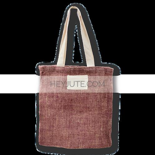 Shopping Bag - Herring Bone Jute