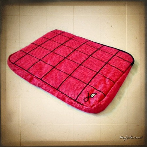 Tablet iPad Sleeves (Red with Black Grid)