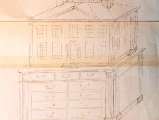 Twin Manors, sketch with base, 1981