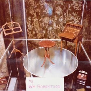 Desk at a show, 1978