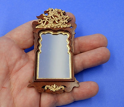 Danish Rococ Locksmith's Mirror, large